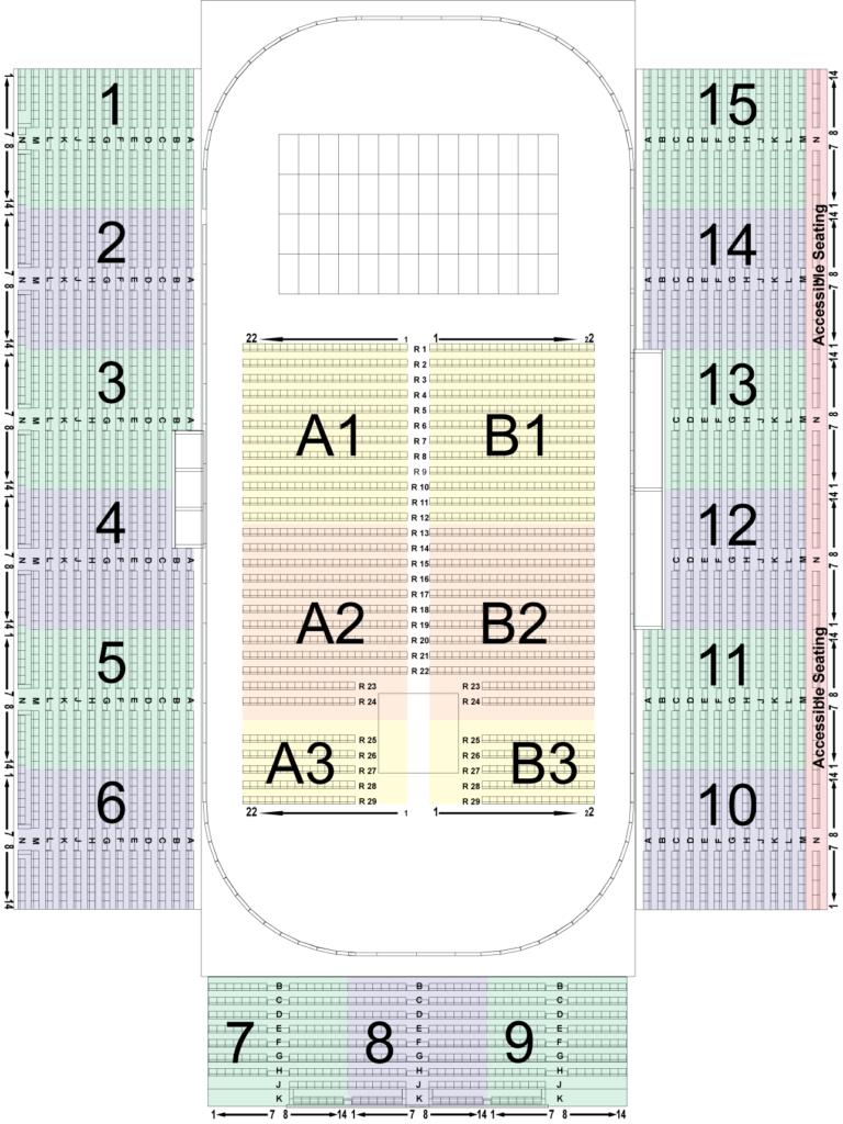 David S. Palmer Arena Seating Chart